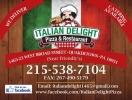 Italian Delight Pizza Menu