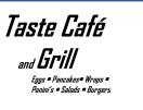 Taste Cafe & Grill Menu