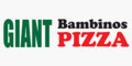 Giant Bambino's Pizza Menu