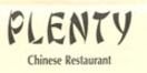 Plenty Chinese Restaurant Menu