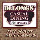 Delongs' Casual Dining & Spirits Menu