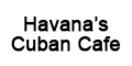 Havana's Cuban Cafe Menu