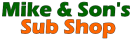 Mike and Sons Sub Shoppe Menu
