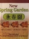 New Spring Garden Menu