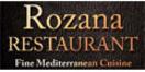 Rozana Fine Mediterranean Cuisine Menu
