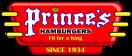 Prince's Hamburgers Menu