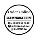 Siam Nara Thai Cuisine Menu