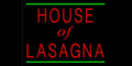 House of Lasagna Menu