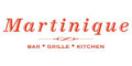 Martinique Cafe Menu