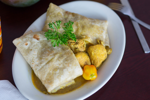 Curry Chicken Roti  - delivery menu