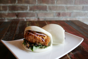Kara-age (fried chicken) buns - delivery menu