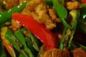 132. Farm House Stir-Fried Pork with Green Pepper - delivery menu