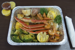 14. 1 Snow Crab Cluster and 1/2 lb. Shrimp Combo Platter - delivery menu