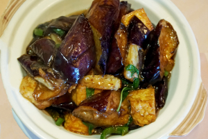 35. Eggplant with Tofu Hot Pot - delivery menu