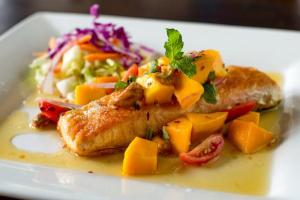 Thai Mango Salsa Fish - delivery menu