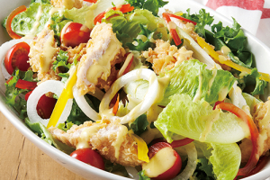 Crispy Chicken Tender Salad 치킨텐더샐러드 - delivery menu