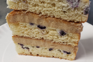 Organic Blueberry Flapjack Cake - delivery menu