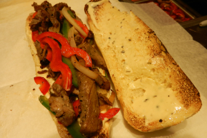 A2.RIB EYE STEAK SANDWICH  - delivery menu