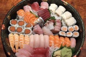 C. Sushi & Sashimi Platter - delivery menu