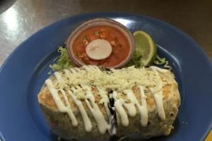 Burrito con Bistec - delivery menu