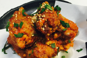 Fried chicken with spicy pollack roe sauce - delivery menu