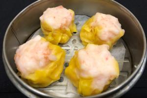 (DIM SUM) : Shrimp & Scallop Dumpling(XIU MAI) (4 pieces) - delivery menu