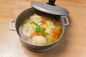 Boiled Chicken in a Pot with matzo ball - delivery menu