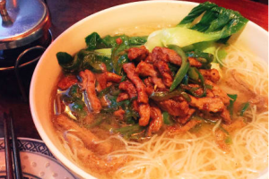 Shredded Chicken with Green Pepper Noodle Soup - delivery menu