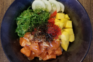 Salmon Mango Poke Bowl - delivery menu