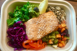 Roasted Ginger Salmon - delivery menu