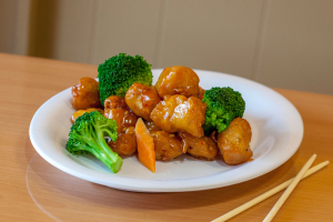 7. Orange Chicken Combo Platter - delivery menu