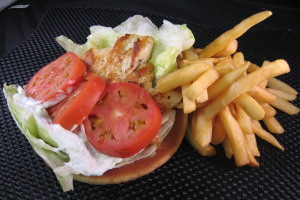 Grilled Grecian Chicken Breast Sandwich - delivery menu