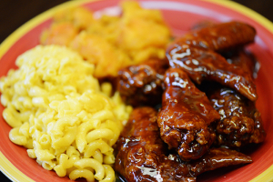 6 Pieces Honey BBQ Wings Dinner - delivery menu