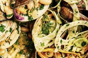 Shrimp and Clam Bianca - delivery menu
