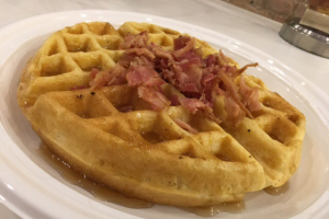 Bacon & Cheese Savory Waffle - delivery menu