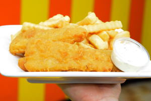 4 fish and chips - delivery menu