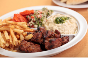 Lamb Kabob Platter  - delivery menu