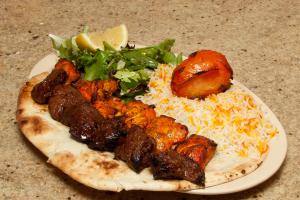 2 Tenderloin Shish Kabobs Plate - delivery menu