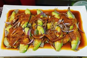 Agua Chile with mango. - delivery menu