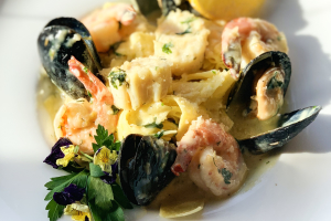 Seafood Pappardelle Pasta - delivery menu