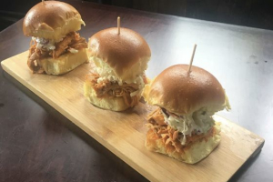 Smoked Pulled Chicken Sliders Tray - delivery menu