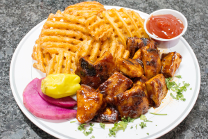 Half BBQ Marinated Chicken Bites Platter - delivery menu