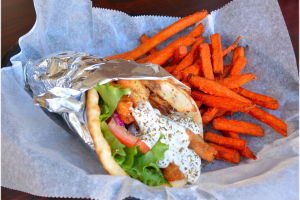 Chicken Gyro Pita Sandwich & Side - delivery menu
