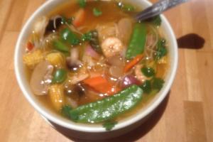 19. Seafood Lemon Grass (Tom Yum) Soup - delivery menu
