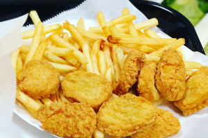56. Six Pieces Chicken Nuggets with Fries and Can Soda - delivery menu