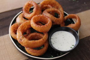 Gourmet Onion Rings with Ranch Sauce - delivery menu