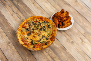 3 Topping Pizza and Wings Special - delivery menu
