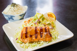 Salmon Teriyaki Dinner - delivery menu