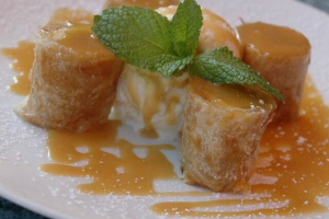 Banana Roti and Warm Caramel Sauce - delivery menu