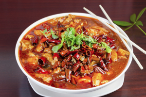 45. Boiled Fish and Tofu in Spicy Chili Sauce - delivery menu